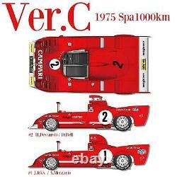 1/12 Maquette en Kit Alfa Romeo Tipo 33 TT 12 1975 model factory hiro K711
