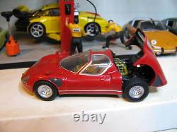 1/43 Minichamps Alfa Romeo Tipo 33 Stradale 1968 red diecast (detailed engine)
