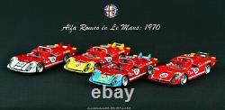 1/43 bundle TrueScale Models TSM Alfa Romeo Tipo 33/3 car #35 36 37 38 Le Mans