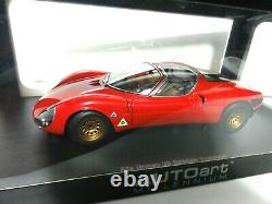 AUTOART 1/18 ALFA ROMEO Tipo 33 Stradale Prototype 1967 red From Japan
