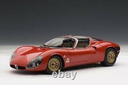 AUTOART 1/18 ALFA ROMEO Tipo 33 Stradale Prototype 1967 red Mint condition