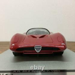 Aiq 1/18 Alfa Romeo Tipo 33 World Limited Sports Car Model Red Genuine Used F/s