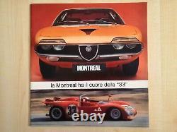 Alfa Romeo Montreal e 33/2 tipo 2 CARTELLA STAMPA BROCHURE very rare