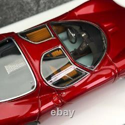 DMH 143 Dark Red Alfa Romeo tipo33 Stradale Resin Collection Car Model