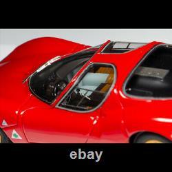 DMH 143 Scale Alfa Romeo Tipo 33 Stradale Rosso Corsa Car Model Golden Wheels