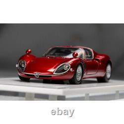 DMH 143 Scale Alfa Romeo Tipo33 Stradale Metallic Red Car Model Collection NEW