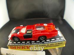 Dinky Toys GB n° 210 Alfa Romeo 33 Tipo Le Mans jamais joué en boîte MIB