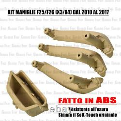 Kit 4 Maniglie Interne BMW X3 F25 X4 F26 Anteriori + Posteriori Beige Soft-Touch