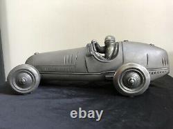 LARGE Sculpture Tazio Nuvolari driving an Alfa Romeo Tipo 8C 1935, Signed