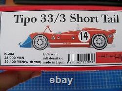 MFH Alfa Romeo tipo 33/3 short tail 1/24 multimedia kit. Model Factory Hiro