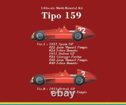Model Factory Hiro K387 143 Alfa Romeo Tipo 159 ver. A 1951 Spanish #22 #24 MFH