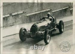 PHOTO FOTO presse Orig. 1935 GP NICE NUVOLARI ALFA ROMEO TIPO B No Brochure