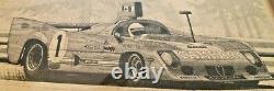 Vintage Alfa Romeo Tipo 33 tt 12 Pen & Ink Lithograph By Cohn Barnes Jr 1975