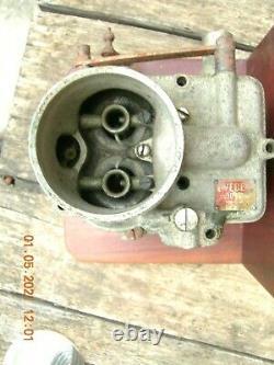 Weber Typo 30 Dcr- Carburatore Antico In Bronzo-per Auto Anni'30