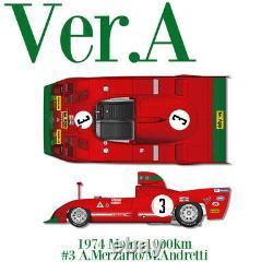 1/12 Kit Alfa Romeo Tipo 33 Tt 12 1974 Usine Modèle Hiro Mfh K709