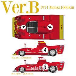 1/12 Kit Alfa Romeo Tipo 33 Tt 12 1974 Usine Modèle Hiro Mfh K710