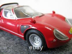 1/43 Minichamps Alfa Romeo Tipo 33 Stradale 1968 Red Diecast (moteur Détaillé)
