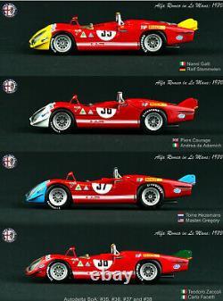 1/43 Paquet Truescale Models Tsm Alfa Romeo Tipo 33/3 Voiture #35 36 37 38 Le Mans