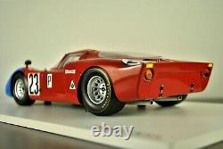 1968 Alfa Romeo Tipo 33/2 Voiture De Course Daytona 24 Andretti Bianchi Tsm 118 Box