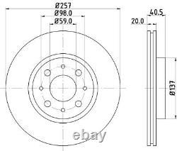 2x Die Bremsscheibe Für Fiat Alfa Romeo Tempra 159 160 B6 046 160 D1 000 Sienne