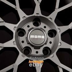 4x Momo Revenge Matt Anthracite 7x17 Et35 5x98 Ml58.1
