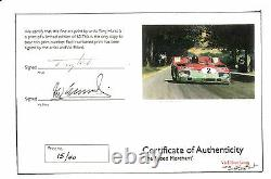 Alfa Romeo Tipo 33 Elford/van Lennep Targa Florio 1972 Impression D'art Signée Par Both