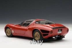 Autoart 1/18 Alfa Romeo Tipo 33 Stradale Prototype 1967 État De Menthe Rouge