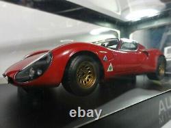 Autoart 1/18 Alfa Romeo Tipo 33 Stradale Prototype 1967 Rouge En Provenance Du Japon