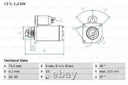 Bosch 0 986 025 670 Anlasser