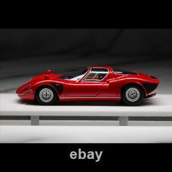 Dmh 143 Balance Alfa Romeo Tipo 33 Stradale Rosso Corsa Modèle De Voiture Roues En Argent