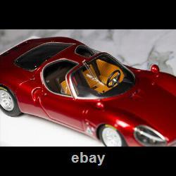 Dmh 143 Échelle Alfa Romeo Tipo 33 Strada Metal Red Resin Car Model Limited 40pcs