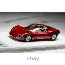 Dmh 143 Échelle Alfa Romeo Tipo33 Stradale Modèle De Voiture Rouge Métallisé New