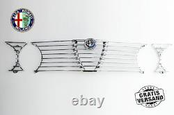 Griglia Radiatore Alfa Romeo Gtv 2000 Bertone Gt Completo + Stemma Griglia