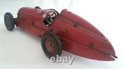 Ligi Alfa Romeo G. P. Tipo 12c Grand Prix Voiture De Course Étain Plate Vieux Comme Marklin