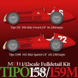 Modèle Usine Hiro K519 112 Alfa Romeo Tipo158 Fulldetail Kit