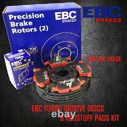 Nouveaux Disques Ebc 284mm Avant Turbo Rainure Gd Et Redstuff Pads Kit Pd12kf159