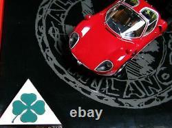 Rare Minichamps 1968 Alfa Romeo Tipo 33 Présentation Stradale Boîte De Claper 143