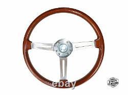 Tipo Hellebore Volante Alfa Romeo 105/115 Spider Gt Dans Legno 390mm + Mozzo